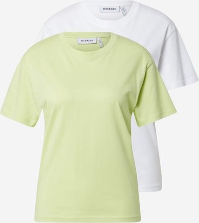 WEEKDAY T-Krekls 'Alanis', krāsa - ābolu / balts, Preces skats
