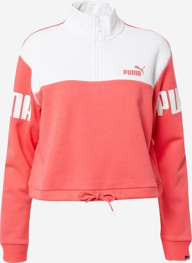 PUMA Sport sweatshirt i melon / vit, Produktvy