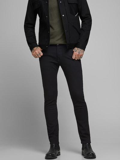 JACK & JONES Jeans 'NOOS - JJIGLENN JJORIGINAL AM 816 NOOS' i svart denim, På modell