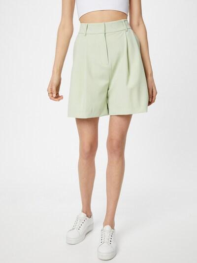 Samsoe Samsoe Pantalon à pince en vert clair, Vue avec modèle