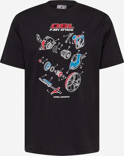 DIESEL Shirt 'JUST' in blau / rot / schwarz / weiß, Produktansicht