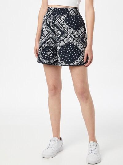 Global Funk Kalhoty 'Mosley' - smaragdová / bílá, Model/ka