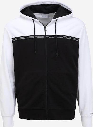 Calvin Klein Big & Tall Gornji dio trenirke u crna / bijela, Pregled proizvoda