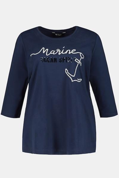 Ulla Popken Shirt in dunkelblau, Produktansicht