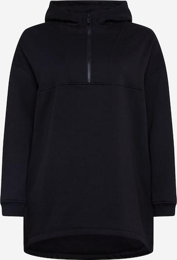 Urban Classics Curvy Sudadera 'Ladies Long Oversized Pull Over Hoody' en negro, Vista del producto