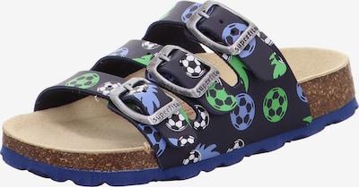 SUPERFIT Chaussures ouvertes en bleu marine / bleu fumé / vert / noir / blanc, Vue avec produit