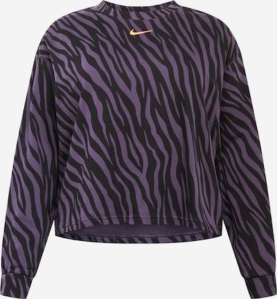Nike Sportswear Sweatshirt in gelb / lila / schwarz, Produktansicht