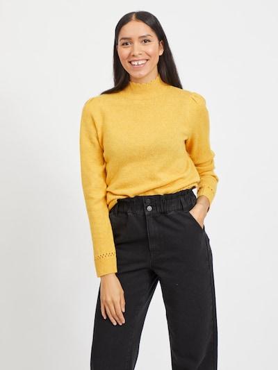 VILA Pullover 'VIKIB' in gelb: Frontalansicht