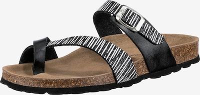 JOLANA & FENENA Sandale in schwarz / weiß, Produktansicht
