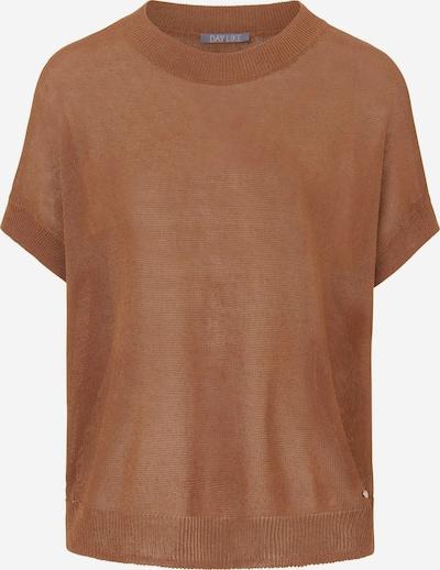 DAY.LIKE Kurzarmpullover Rundhals-Pullover in braun, Produktansicht