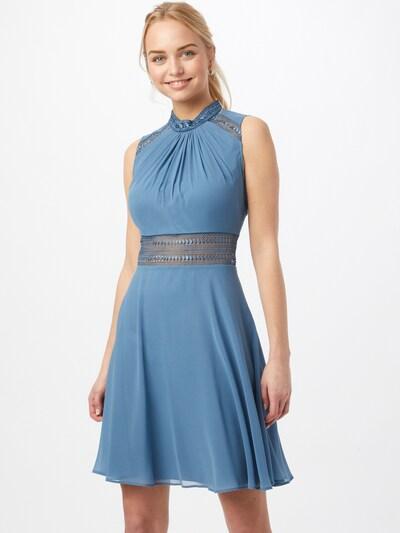 Vera Mont Cocktailkleid mit Spitzeneinsatz in blau, Modelansicht