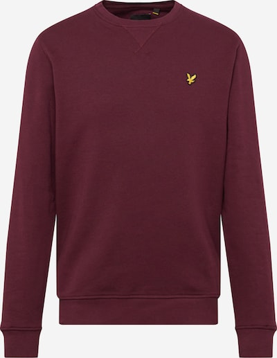 Lyle & Scott Sweatshirt in de kleur Bourgogne, Productweergave