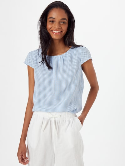 MORE & MORE Bluse 'Vichy' in hellblau / weiß, Modelansicht