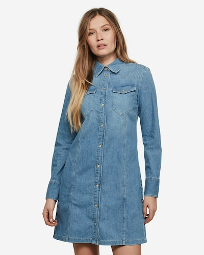 G-Star RAW Kleid ' Tacoma Slim ' in blau, Modelansicht
