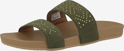REEF Claquettes / Tongs 'Cushion Bounce Vista Studs' en or / vert, Vue avec produit