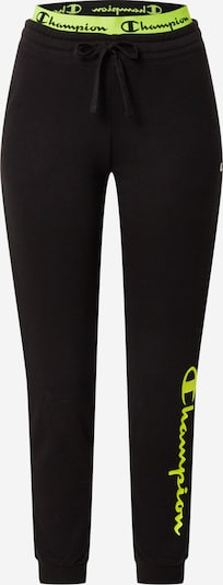 Champion Authentic Athletic Apparel Pantalon 'American Classics ' en jaune fluo / noir, Vue avec produit