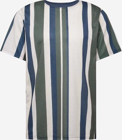 Redefined Rebel T-Shirt 'Fred' in marine / khaki / eierschale, Produktansicht