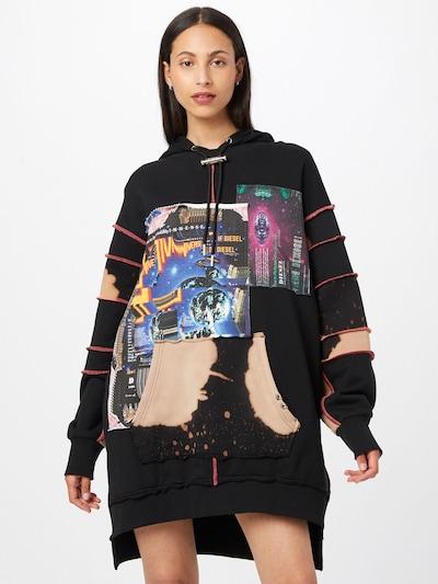 DIESEL Kleid in mischfarben / schwarz, Modelansicht