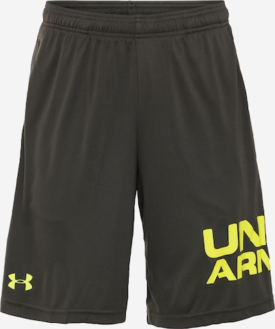 UNDER ARMOUR Sportshorts in gelb / dunkelgrün, Produktansicht