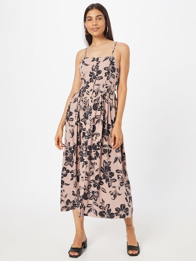 Free People Shirt Dress in Champagne / Black, View model