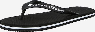 ARMANI EXCHANGE Varvastossut värissä musta / valkoinen, Tuotenäkymä