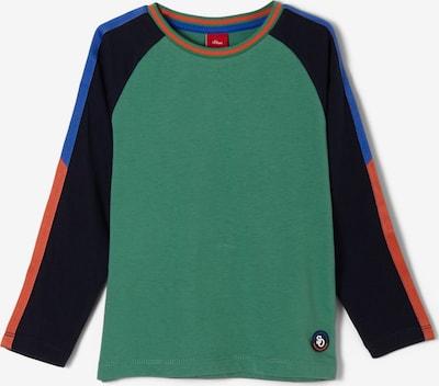 s.Oliver Shirt in navy / royalblau / grün / orange, Produktansicht