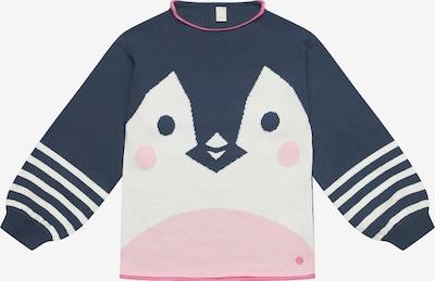 ESPRIT Pullover in nachtblau / pink / weiß, Produktansicht