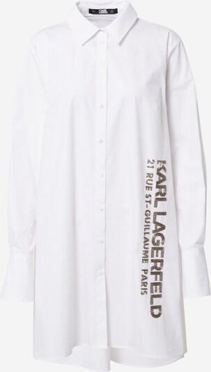 Karl Lagerfeld Bluse in braun / weiß, Produktansicht