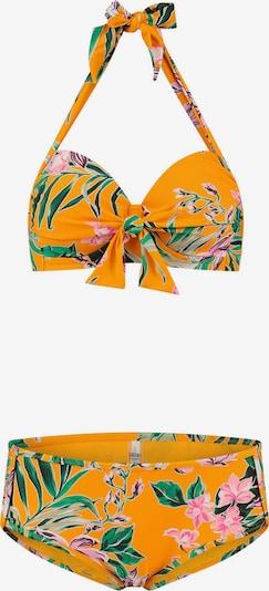 Costum de baie două piese 'Waikiki' Shiwi pe verde / portocaliu deschis / roz, Vizualizare produs