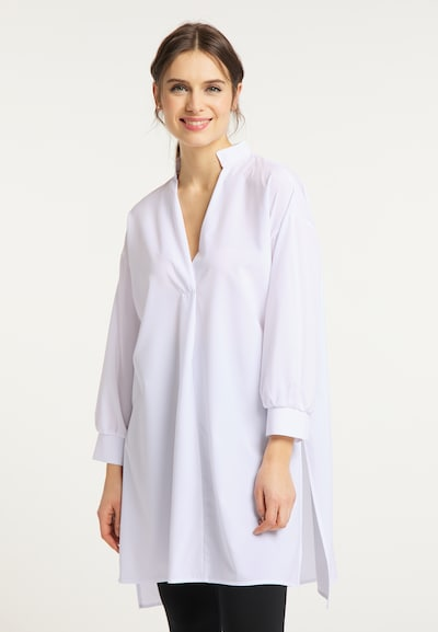 usha WHITE LABEL Bluse in weiß, Modelansicht