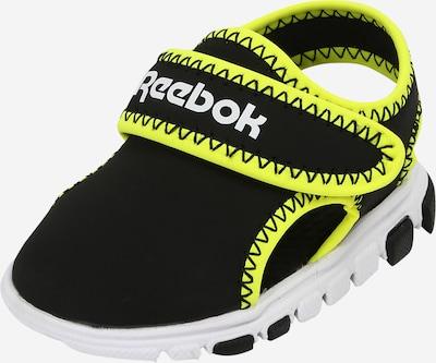 REEBOK Iešļūcenes/baseina apavi neonzaļš / melns / balts, Preces skats