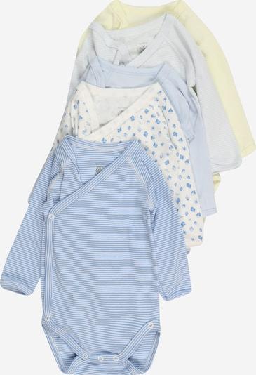 PETIT BATEAU Body in rauchblau / azur / pastellgelb / weiß, Produktansicht