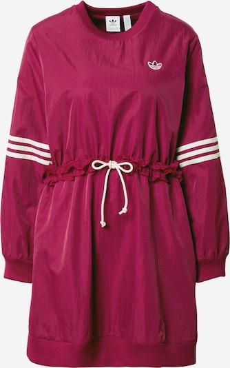 ADIDAS ORIGINALS Vestido en rojo vino / blanco, Vista del producto