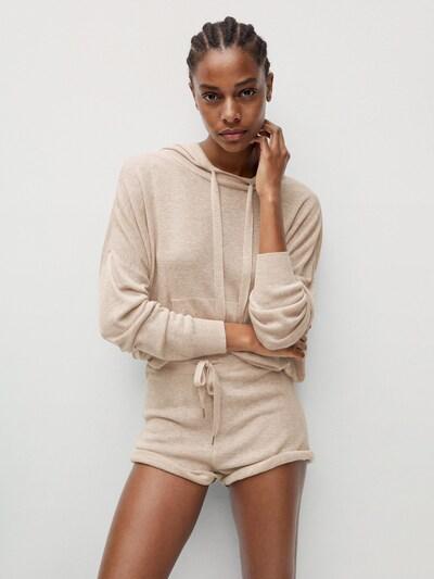 MANGO Kalhoty 'TOBIAS' - béžová, Model/ka