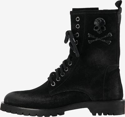 myMo ROCKS Schnürstiefelette in schwarz, Produktansicht
