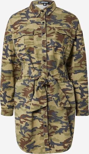 Rochie tip bluză Missguided pe bleumarin / maro / kaki / verde deschis, Vizualizare produs