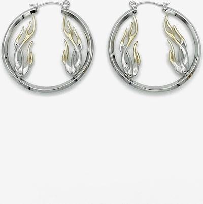Rare-Romance Earrings 'FLAME HOOP' in Silver, Item view