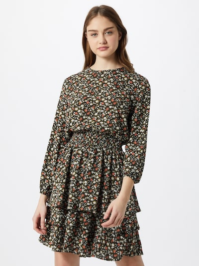 SISTERS POINT Kleid 'Nicoline' in navy / khaki / rosa / weiß, Modelansicht