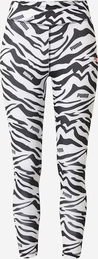 PUMA Pantalon de sport en saumon / noir / blanc, Vue avec produit