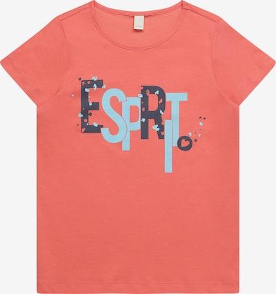 ESPRIT T-Shirt in blau / pink, Produktansicht