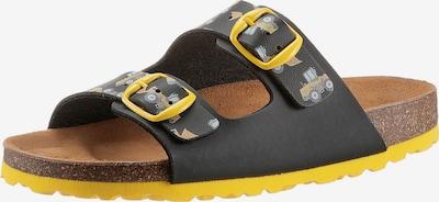 BIO POINT Pantolette in gelb / anthrazit, Produktansicht