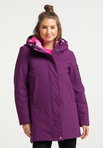 MYMO Winter Coat in Berry / Light pink, View model