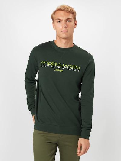 Lindbergh Mikina - jablko / tmavě zelená / bílá: Pohled zepředu