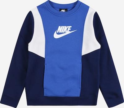 Nike Sportswear Sweatshirt 'Amplify' in royalblau / dunkelblau / weiß, Produktansicht