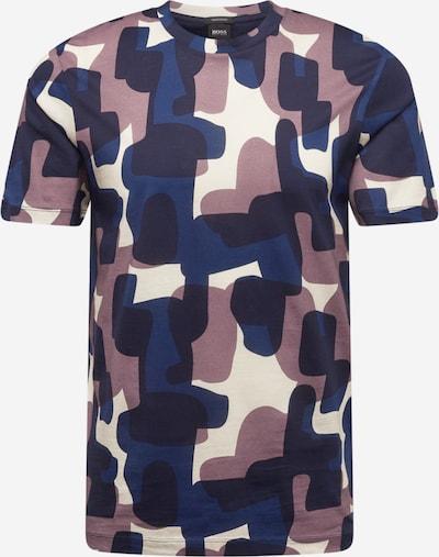 BOSS Tričko 'Tiburt 251' - námornícka modrá / tmavomodrá / rosé / biela, Produkt