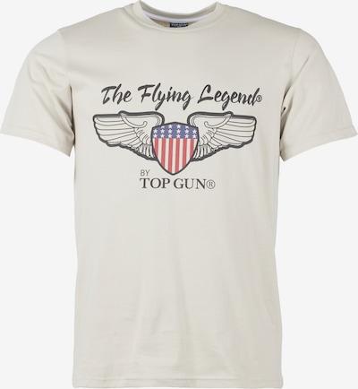 TOP GUN Shirt '20193027 ' in de kleur Beige / Gemengde kleuren: Vooraanzicht