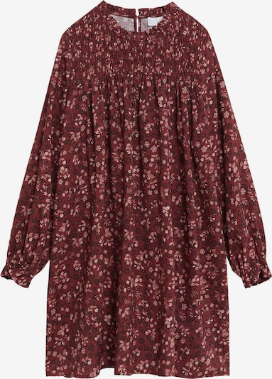 MANGO KIDS Kleid in beige / rosé / weinrot: Frontalansicht
