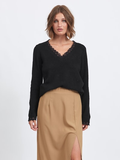 VILA Pullover 'Ala' in schwarz, Modelansicht