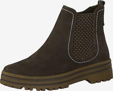 JANA Chelsea Boots in Grün
