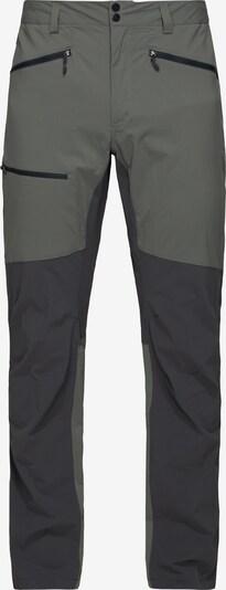 Haglöfs Outdoorbroek 'Lite Flex' in de kleur Grijs / Zwart, Productweergave